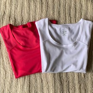 Lot of 2 work out tank tops, M